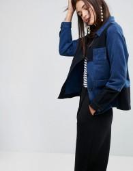 YMC Patchwork Workwear Jacket - Navy