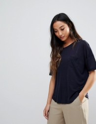 YMC Wool Blend T-Shirt - Navy