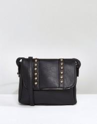 Yoki Across Body Bag With Studding - Black
