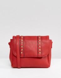 Yoki Across Body Bag With Studding - Red