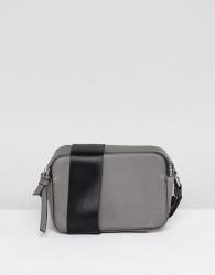 Yoki Cross Body Camera Bag with Studding on Strap - Grey