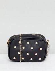 Yoki Fashion Camera Bag with Pearl Embellishment - Black
