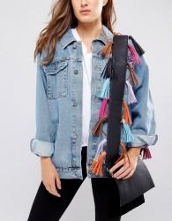 Yoki Fashion Detachable Bag Strap With Multi Coloured Tassels - Multi