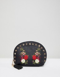 Yoki Fashion Embroidered Cosmetic - Black