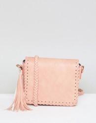 Yoki Fashion Plait Detail Cross Body Bag - Pink