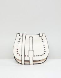 Yoki Fashion Saddle Bag with Studding - Cream