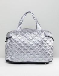 Yoki Fashion Textured Duffle Holdall in Grey - Grey