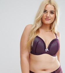 Yours Berry Mesh Bra - Purple