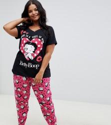 Yours Betty Boop 2 Piece Pyjama Set - Multi
