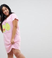 Yours Clothing Avocuddle Nightdress - Pink