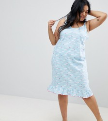 Yours Clothing Cloud Cami Nightdress - Blue