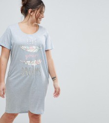 Yours Clothing Live Your Dreams Nightdress - Blue