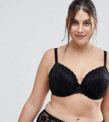 Yours Daisy Lace Black Bra - Black