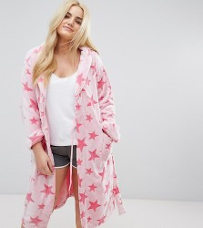 Yours Pink Star Robe - Pink