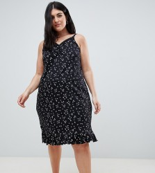 Yours Star and Moon Printed Chemise - Black