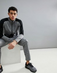 YOURTURN Active Tracksuit Set With Stripe In Grey - Grey