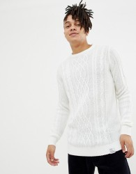 YOURTURN Cable Knit Jumper In White - White
