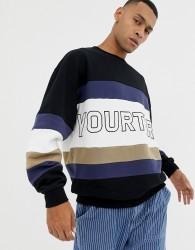 YOURTURN colour block sweatshirt with logo - Multi