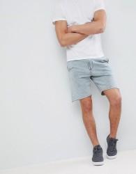 YOURTURN Denim Wash Shorts In Light Blue - Blue