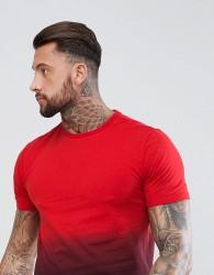 YOURTURN Dip Dye T-Shirt In Red - Red