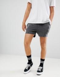 YOURTURN Jogger Shorts In Grey - Grey