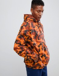 YOURTURN overhead windbreaker jacket in orange camo - Orange