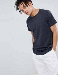 YOURTURN Raglan T-Shirt With Step Hem - Grey