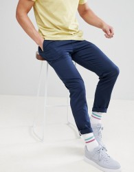 YOURTURN Relaxed Chino In Skater Fit In Blue - Blue