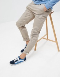 YOURTURN Relaxed Fit Chino In Brown - Brown