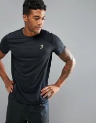 YOURTURN Running T-Shirt In Black - Black
