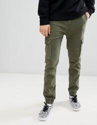 YOURTURN Skinny Jogger In Khaki - Green