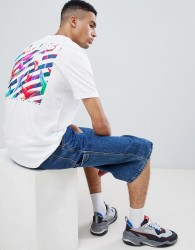 YOURTURN T-Shirt With Back Print In White - Grey
