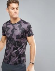 YOURTURN Training T-Shirt In Print - Black