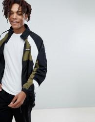 YOURTURN Zip Through Retro Sport Jacket In Blue - Multi