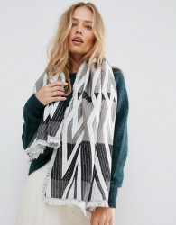 Yumi Abstract Knit Scarf - Multi