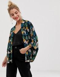 Yumi pineapple and tropical print kimono - Multi