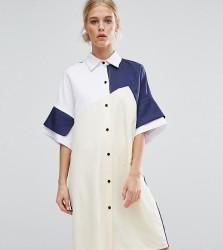 ZACRO Colourblock Shirt Dress - Multi