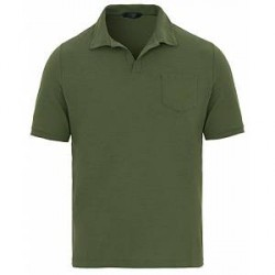 Zanone Ice Cotton Buttonless Polo Green