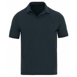 Zanone Ice Cotton Buttonless Polo Navy