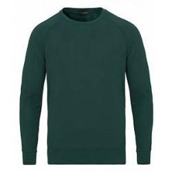 Zanone Ice Cotton Crew Neck Sweatshirt Moss Green