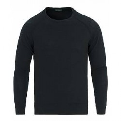 Zanone Ice Cotton Crew Neck Sweatshirt Navy