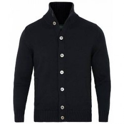 Zanone Virgin Merino Wool Cardigan Chioto Navy