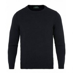 Zanone Virgin Merino Wool Crew Neck Navy