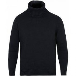 Zanone Virgin Merino Wool Rollneck Navy