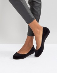 Zaxy by Melissa Pop Flock Ballerina - Black