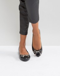 Zaxy by Melissa Romantic Bow Ballerina - Black