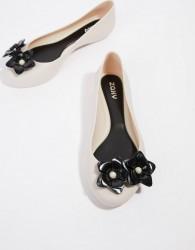 Zaxy Pop Flower Ballerinas - Cream