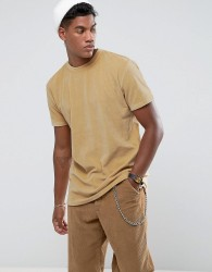 Zeffer Oversized Velour T-Shirt - Tan