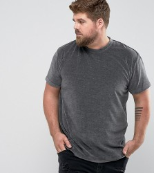 Zeffer PLUS Oversized Velour T-Shirt - Grey