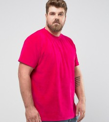 Zeffer PLUS Oversized Velour T-Shirt - Pink
